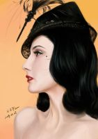 Dita's black hair by HRFleur