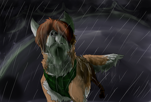 Alone In  The Rain by Red--Eye