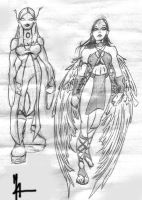 White Witch and Dawnstar redesign sketchs by viridislament