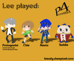 Lee played: Persona 4 by Leesdg