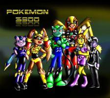 Primary Characters. Pokemon 3900 by Jeticus