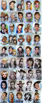 45 caricatures by hamdiggy