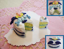 Mew Mint inspired cake by WaterGleam