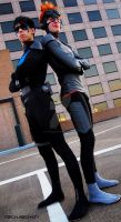 Young Justice Nightwing and Kid Flash Best Bros! by FluxTideDesigns