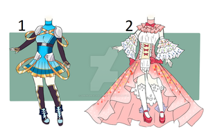 Outfits Auction Batch [CLOSE] by SpringPeachAdopts