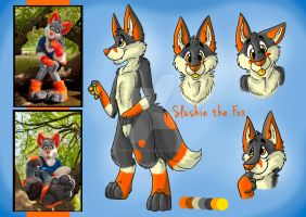 Slushie the Fox - Reference sheet by FurryFursuitMaker