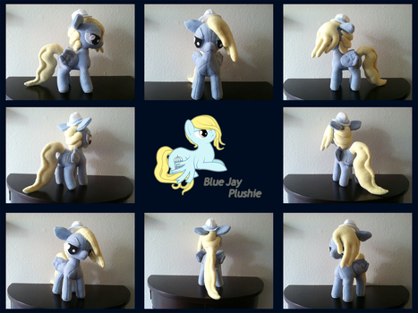Blue Jay OC Plush (Remade) by PetrucciosPlushies