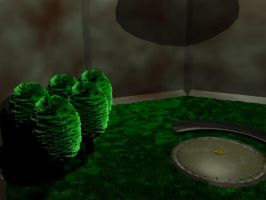 3D cloister room coloured... by TheTimeLordMarshal