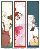 InuYasha - bookmarkers by DarkSunRose
