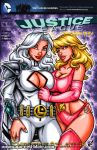 Dreamer + Saturn Girl sketch cover by gb2k