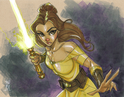 Jedi Belle by Hodges-Art