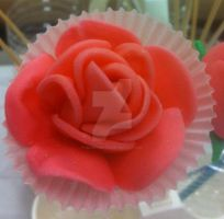 My FIRST Fondant Rose! by InkArtWriter
