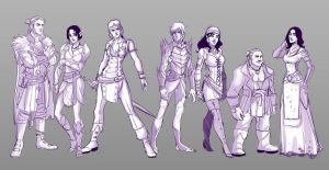 Dragon age line up by MPdigitalART