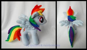 My little Pony Rainbow Dash Plush by Rainbow-Kite