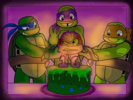 Raph's Sweet Sixteen by FrillyReptile