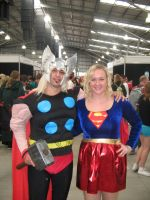 Thor and Supergirl Cosplay by ray-dnt