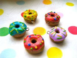 Donut Charms by Origami-Joe