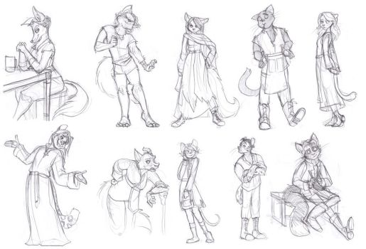 A Bunch Of Furries by Cafiffle