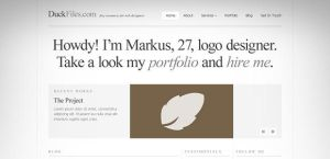 A typography perfect website template by DuckFiles