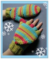 Crochet Gloves by ItziBitziTinka