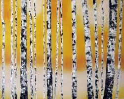 Birch Forest by waxwng
