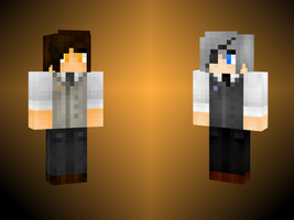 Lou + Elijah -- As Minecraft skins! by FlamingMelody