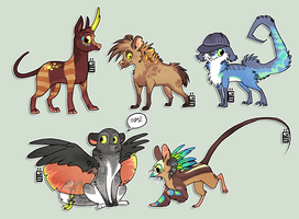 Revamped some old characters by griffsnuff