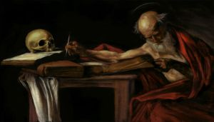 Caravaggio study of Sint-Hieronymus by mindschnapps