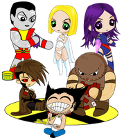 Marvel X-Men Chibi by cyborgspider
