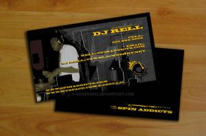 DJ Rell Business Card by KiaDesignz