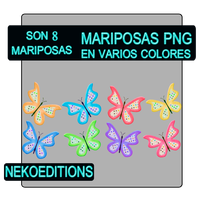 Mariposas Png by NekoEditions