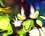 [Shadow and Sonic] by LeonS-7