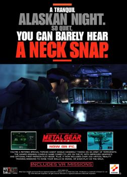 Metal Gear Solid 1 PC ad poster 90% recreation by SOLIDCAL
