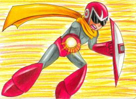 Protoman in action by Sonicbandicoot