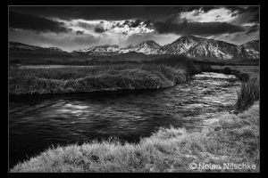 Owens River Storm BW by narmansk8