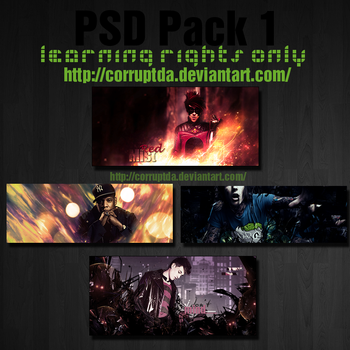 Corrupts PSD Pack 1 by CorruptDA