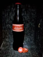 Fallout 3: Nuka Cola and Nuka Bottle Caps by Spaz-Twitch11-15-10