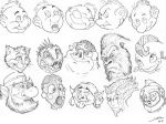 Cartoon faces excercice by ARTOFJUSTAMAN