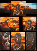 African Beauty - tryptic by bad4e