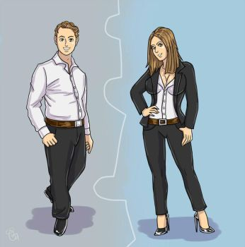 Before n After TG Business attire by K1tty-Marshmell0w