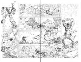 Invincible 63 fight spread by RyanOttley
