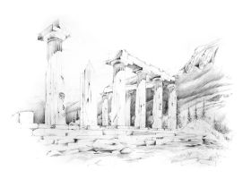 Corinth, Temple of Apollo by 9LAB