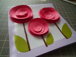 3D Roses papercraft by EvanescentEvents