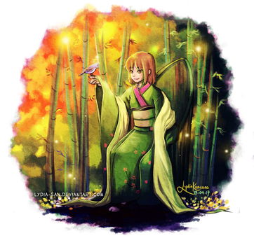 [Comm] Enchanted Bamboo Forest by lydia-san