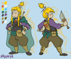 Character Design: Manya by forte-girl7