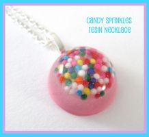 Candy Sprinkles Necklace by SabrinaDeeBerry