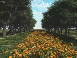 Flowers Road by Nadia-design