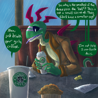 eddie complains about starbucks by SabreBash