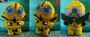 TF Prime: Bumblebee Plushie by Guiled-Dragon