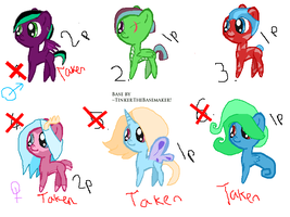 Mlp Point Adoptables by cheesepuff2